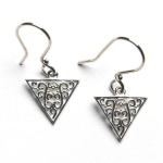 Art Deco Triangle Scroll Earrings Southern Gates