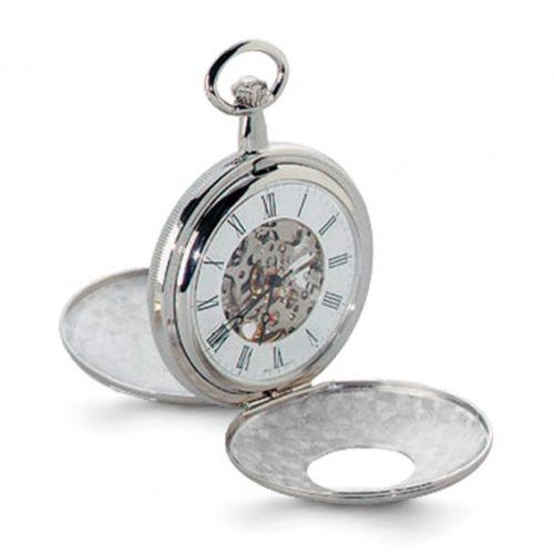 Charles Hubert Chrome-finish White Dial Pocket Watch